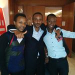 Robel Tessema with friends